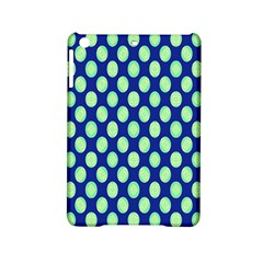 Mod Retro Green Circles On Blue Ipad Mini 2 Hardshell Cases by BrightVibesDesign