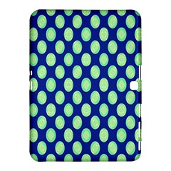 Mod Retro Green Circles On Blue Samsung Galaxy Tab 4 (10 1 ) Hardshell Case  by BrightVibesDesign