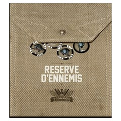 V Commando Ennemis Medium By Dehongher   Drawstring Pouch (medium)   Rkb8xwvxr4d7   Www Artscow Com Back