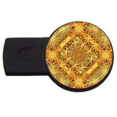 Digital Abstract Geometric Collage Usb Flash Drive Round (2 Gb)  by dflcprints