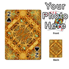 Digital Abstract Geometric Collage Playing Cards 54 Designs  by dflcprints