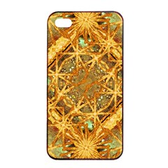 Digital Abstract Geometric Collage Apple Iphone 4/4s Seamless Case (black) by dflcprints