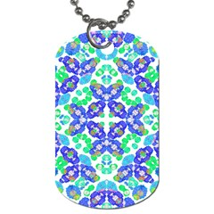 Stylized Floral Check Seamless Pattern Dog Tag (one Side) by dflcprints