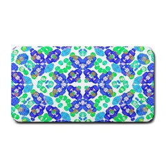Stylized Floral Check Seamless Pattern Medium Bar Mats by dflcprints
