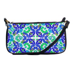 Stylized Floral Check Seamless Pattern Shoulder Clutch Bags by dflcprints