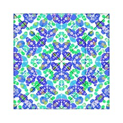 Stylized Floral Check Seamless Pattern Acrylic Tangram Puzzle (6  X 6 ) by dflcprints