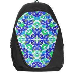 Stylized Floral Check Seamless Pattern Backpack Bag by dflcprints