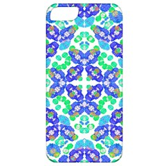 Stylized Floral Check Seamless Pattern Apple Iphone 5 Classic Hardshell Case by dflcprints