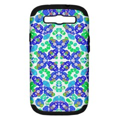 Stylized Floral Check Seamless Pattern Samsung Galaxy S Iii Hardshell Case (pc+silicone) by dflcprints