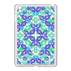 Stylized Floral Check Seamless Pattern Apple Ipad Mini Case (white) by dflcprints