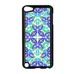 Stylized Floral Check Seamless Pattern Apple Ipod Touch 5 Case (black) by dflcprints
