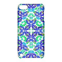 Stylized Floral Check Seamless Pattern Apple Ipod Touch 5 Hardshell Case With Stand by dflcprints