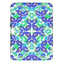 Stylized Floral Check Seamless Pattern Samsung Galaxy Tab 3 (10 1 ) P5200 Hardshell Case  by dflcprints