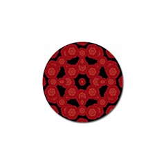 Stylized Floral Check Golf Ball Marker by dflcprints