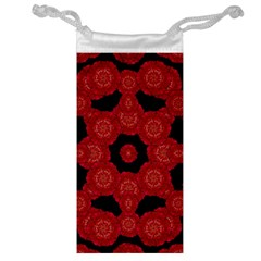 Stylized Floral Check Jewelry Bags by dflcprints