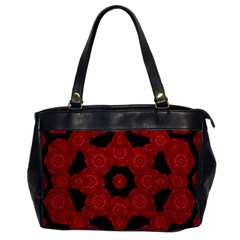 Stylized Floral Check Office Handbags by dflcprints