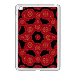 Stylized Floral Check Apple Ipad Mini Case (white) by dflcprints