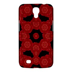 Stylized Floral Check Samsung Galaxy Mega 6 3  I9200 Hardshell Case by dflcprints