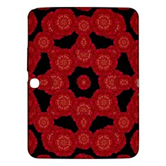 Stylized Floral Check Samsung Galaxy Tab 3 (10 1 ) P5200 Hardshell Case  by dflcprints