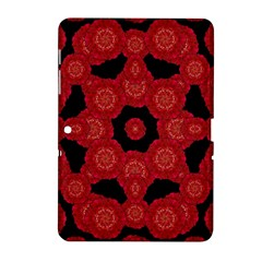 Stylized Floral Check Samsung Galaxy Tab 2 (10 1 ) P5100 Hardshell Case  by dflcprints