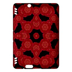 Stylized Floral Check Kindle Fire Hdx Hardshell Case by dflcprints