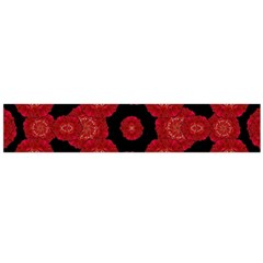 Stylized Floral Check Flano Scarf (large)  by dflcprints