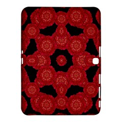 Stylized Floral Check Samsung Galaxy Tab 4 (10 1 ) Hardshell Case  by dflcprints