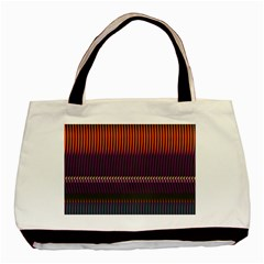 Curvy Stripes       			basic Tote Bag by LalyLauraFLM