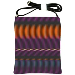 Curvy Stripes       			shoulder Sling Bag by LalyLauraFLM
