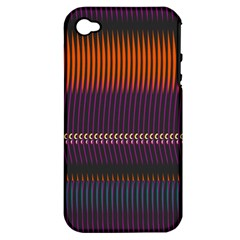 Curvy Stripes       			apple Iphone 4/4s Hardshell Case (pc+silicone) by LalyLauraFLM