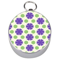 Purple Flowers Pattern        Silver Compass
