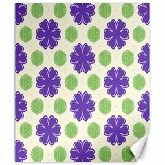 Purple Flowers Pattern        canvas 20  X 24  by LalyLauraFLM