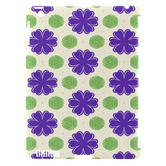 Purple Flowers Pattern        			apple Ipad 3/4 Hardshell Case (compatible With Smart Cover) by LalyLauraFLM