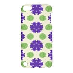 Purple Flowers Pattern        apple Ipod Touch 5 Hardshell Case by LalyLauraFLM