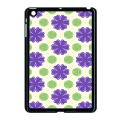 Purple flowers pattern        			Apple iPad Mini Case (Black) by LalyLauraFLM