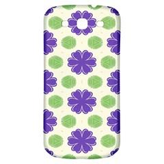 Purple Flowers Pattern        samsung Galaxy S3 S Iii Classic Hardshell Back Case by LalyLauraFLM