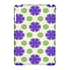 Purple Flowers Pattern        			apple Ipad Mini Hardshell Case (compatible With Smart Cover) by LalyLauraFLM