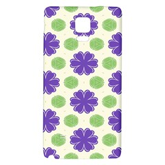 Purple Flowers Pattern        			samsung Note 4 Hardshell Back Case by LalyLauraFLM