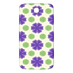 Purple Flowers Pattern        			samsung Galaxy Mega I9200 Hardshell Back Case