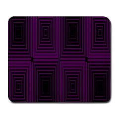 Purple Black Rectangles         			large Mousepad by LalyLauraFLM
