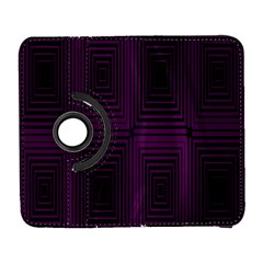 Purple Black Rectangles         			samsung Galaxy S Iii Flip 360 Case by LalyLauraFLM