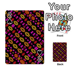 Stylized Floral Stripes Collage Pattern Playing Cards 54 Designs