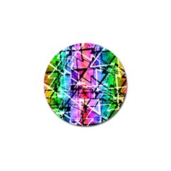 Multicolor Geometric Grunge Golf Ball Marker (4 Pack) by dflcprints