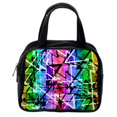Multicolor Geometric Grunge Classic Handbags (one Side) by dflcprints