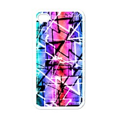 Multicolor Geometric Grunge Apple Iphone 4 Case (white) by dflcprints