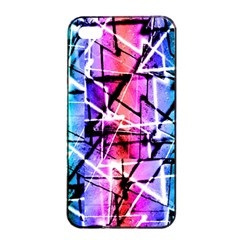 Multicolor Geometric Grunge Apple Iphone 4/4s Seamless Case (black) by dflcprints