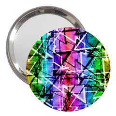 Multicolor Geometric Grunge 3  Handbag Mirrors by dflcprints