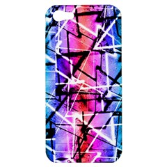 Multicolor Geometric Grunge Apple Iphone 5 Hardshell Case by dflcprints