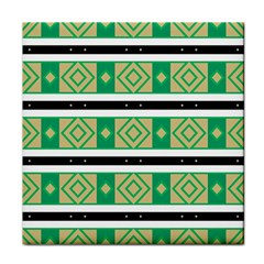Green Rhombus And Stripes           			tile Coaster by LalyLauraFLM