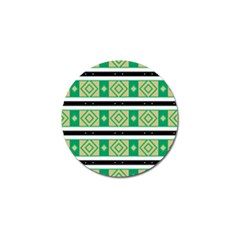 Green Rhombus And Stripes           			golf Ball Marker (4 Pack) by LalyLauraFLM